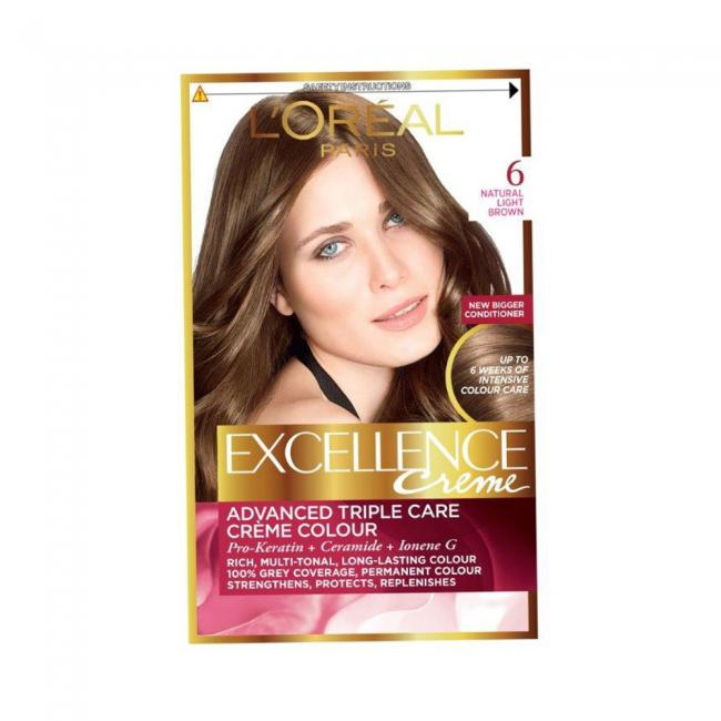 Buy Loreal Excellence Hair Color Light Brown 6 At The Best Price In