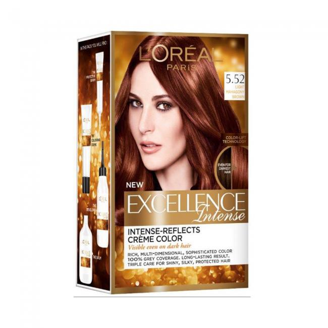 Buy Loreal Excellence Hair Color Light Mahagony Brown 552 At The